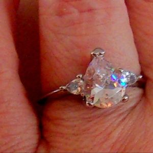 Jewelry - 3.2 ct CZ 925 Silver Engagement Ring